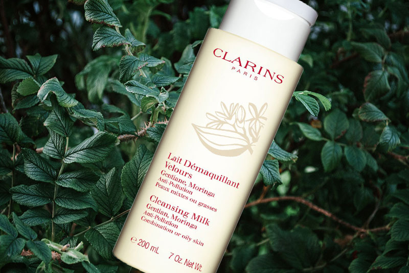 clarins cleansing milk with gentian review