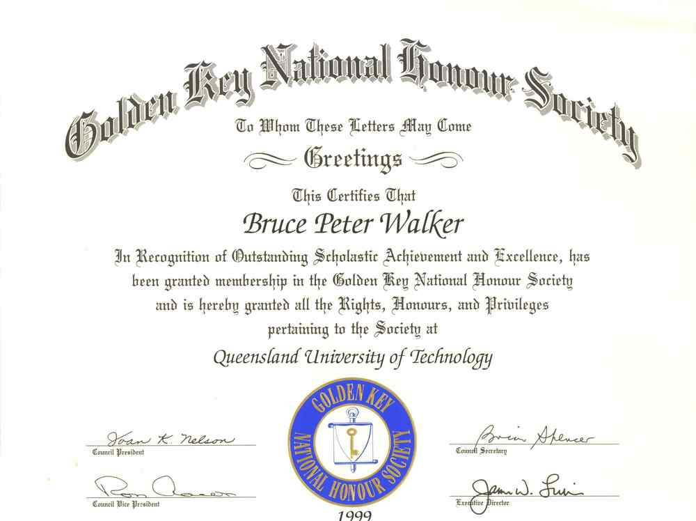 golden key national honor society review