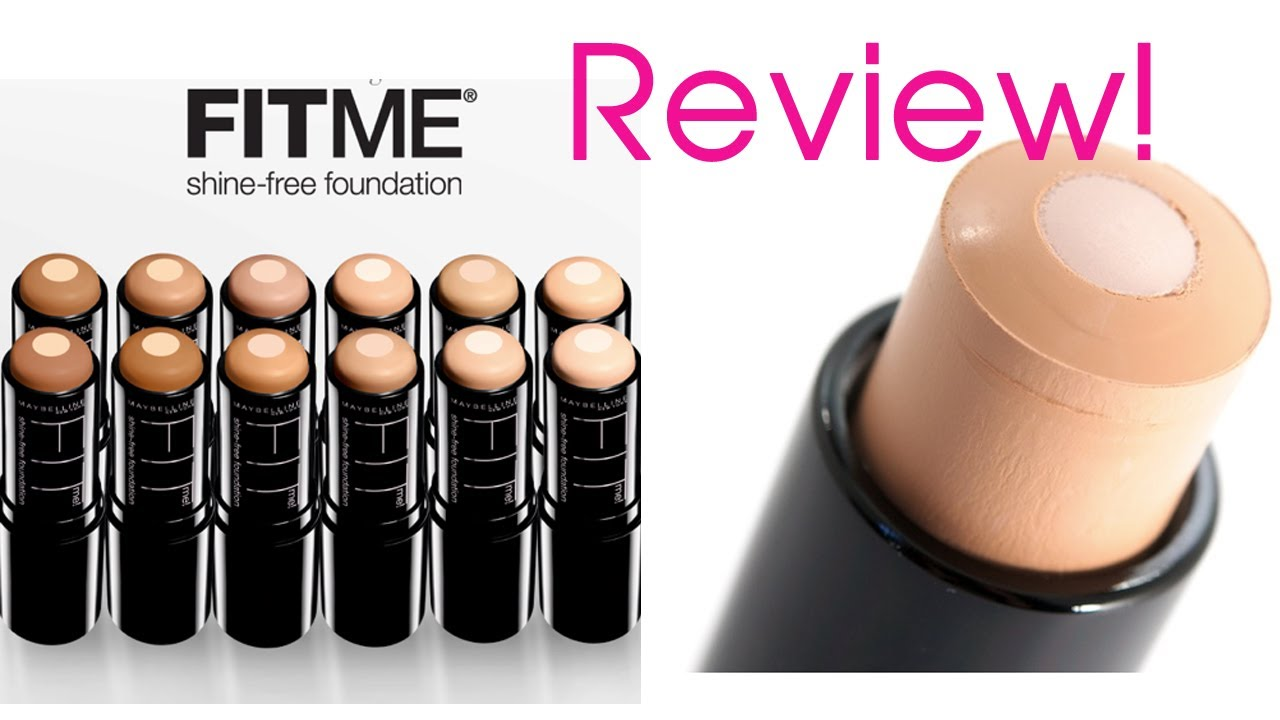 maybelline shine free stick foundation review