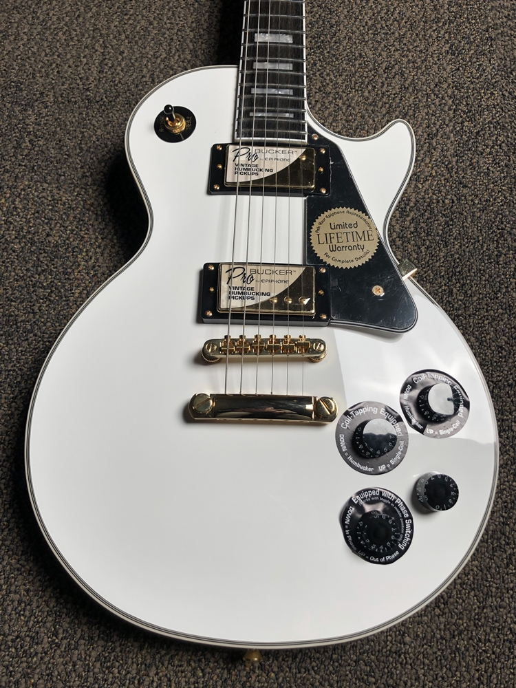 epiphone les paul custom white review