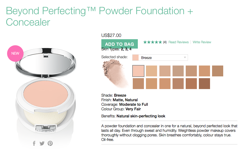 clinique beyond perfecting powder foundation review