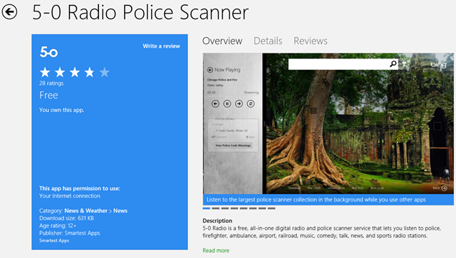 5 0 radio police scanner review