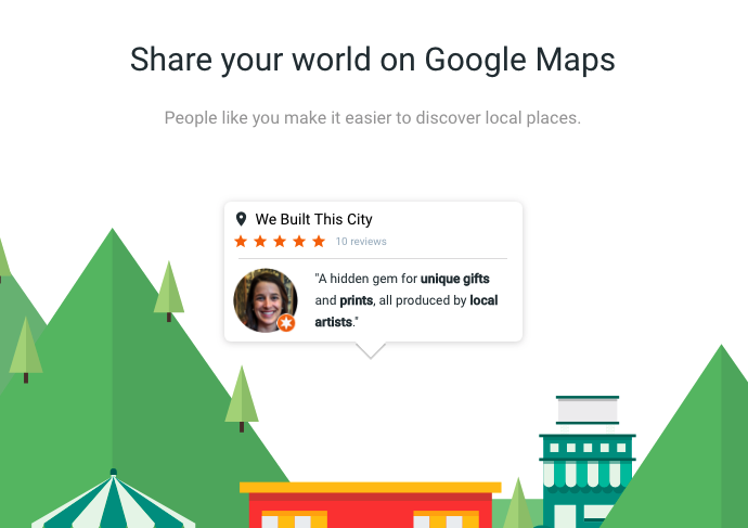 how to write a business review on google maps