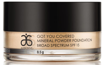 arbonne mineral powder foundation review