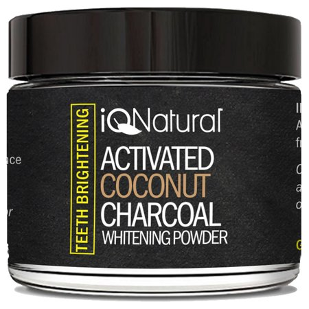 coconut charcoal teeth whitening powder reviews