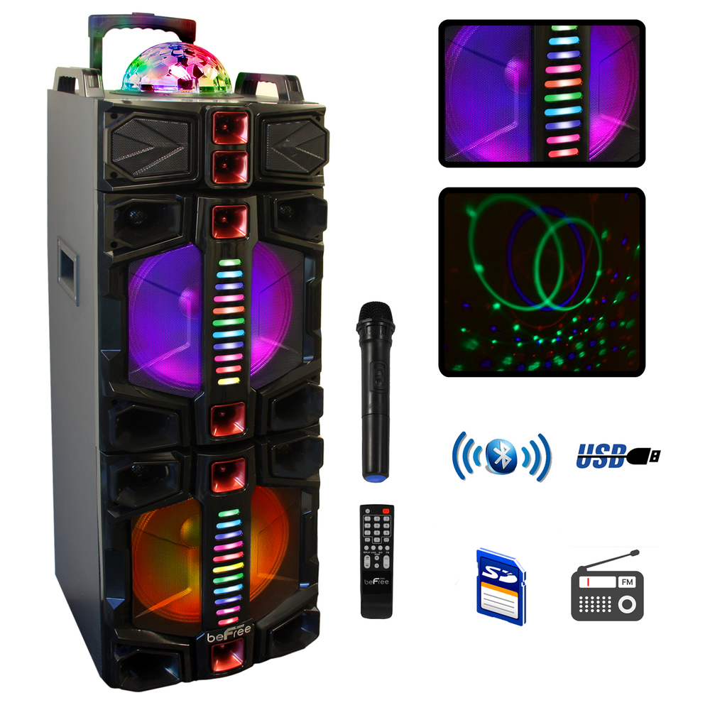 laser portable party speaker review