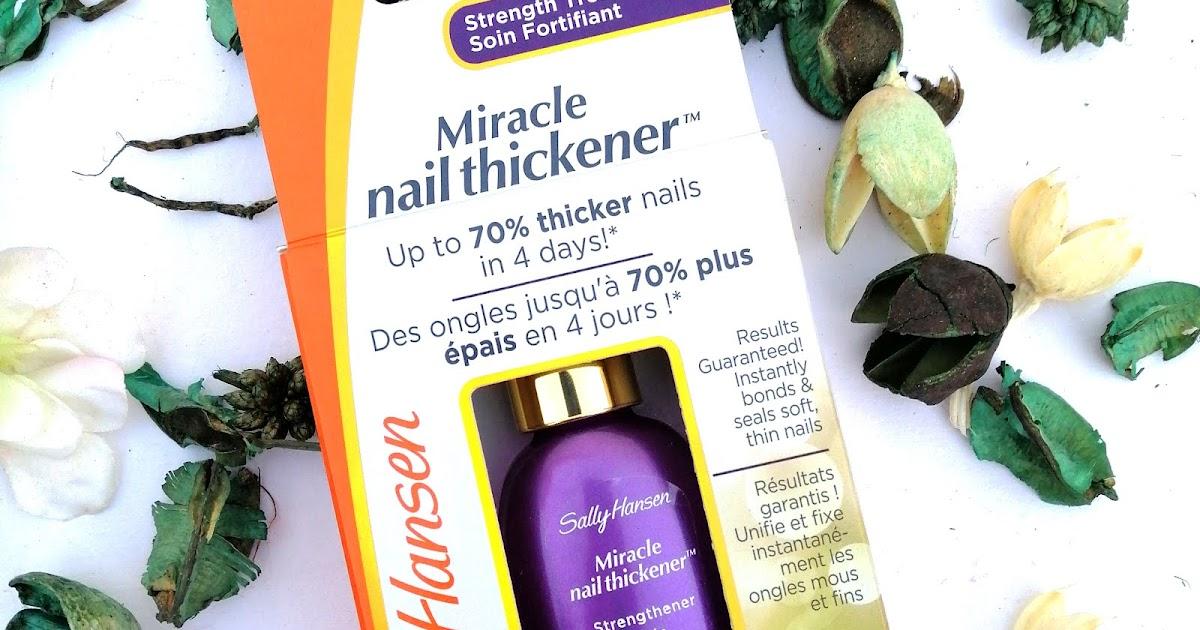 sally hansen miracle nail thickener review